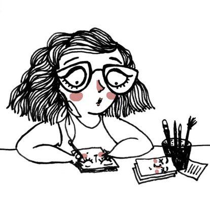 Caricatura de Sara Fratini.