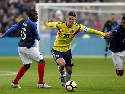 El colombiano James Rodriguez supera a Kanté y Lemar.