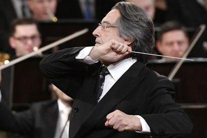Riccardo Muti, hoy, en un momento del Concierto de Año Nuevo.