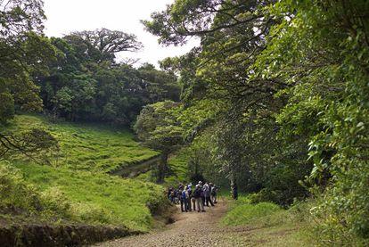 Visitantes en la reserva de Curi-Cancha.