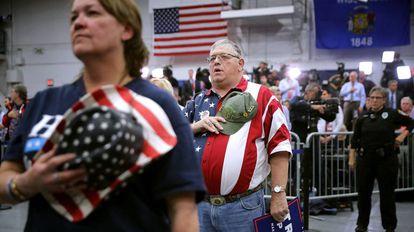 Seguidores de Trump en un mítin en Wisconsin.