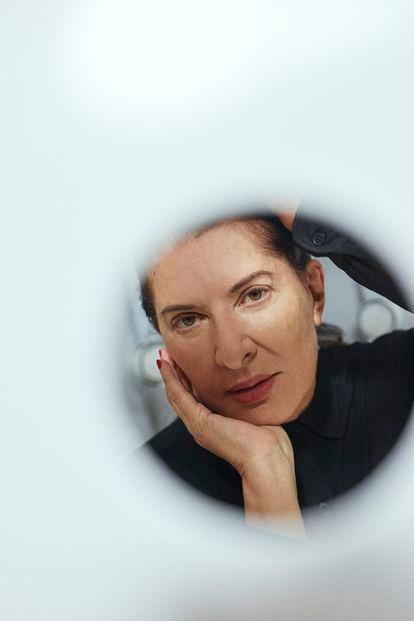 Marina Abramovic fotografiada en lostalleres de Factum Arte, Madrid. Julio 2021