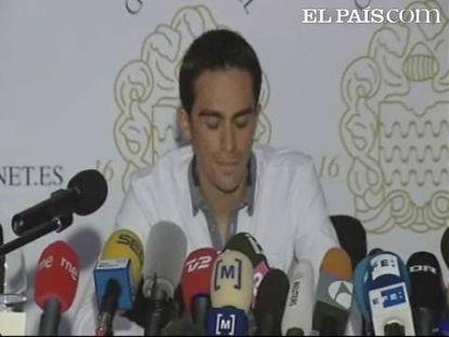 'Nunca me he dopado; ya no creo en el sistema Antidopaje', ha dicho un Contador enfadado por la sanción de un año que quiere imponerle la Federación española de ciclismo.