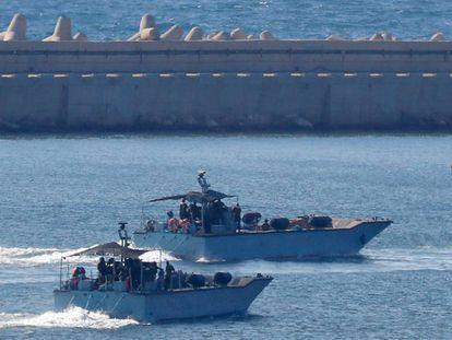 Israel intercepta un barco de una flotilla que quería llevar provisiones a Gaza el 29 de julio de 2018.