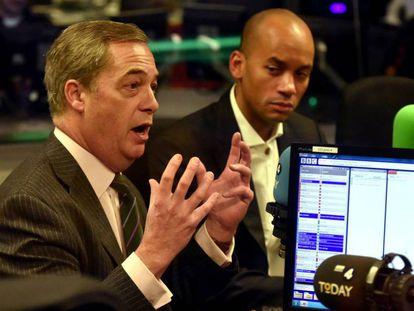 Nigel Farage, este viernes durante una entrevista en la BBC Radio 4 en Londres.