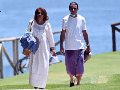 Ana Botella y su esposo José María Aznar en Marbella