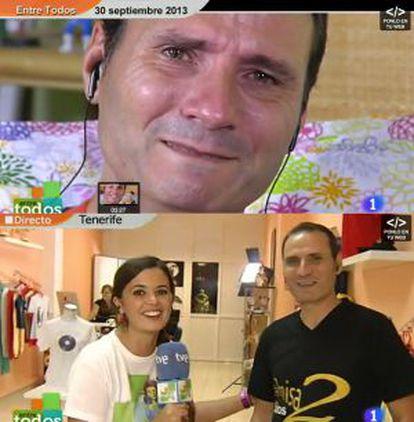 Ángel Albelo tiene un negocio de camisetas en Santa Cruz de Tenerife por los 11.000 euros que recaudó en 'Entre todos'.