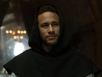 Neymar, en su cameo en 'La casa de papel'.