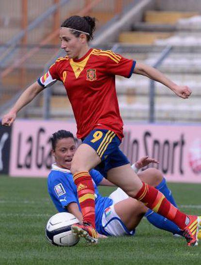 Vero Boquete, en un encuentro de 2014 ante Italia.