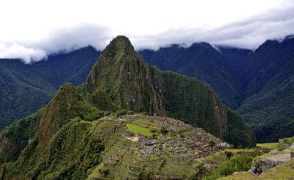 Panorámica de la ciudadela inca de Machu Picchu, en Perú.