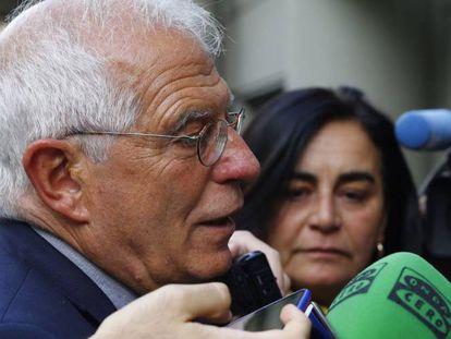 Josep Borrell, el pasado lunes en un acto de la UNED.