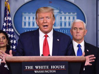 El presidente de Estados Unidos, Donald Trump, en Washington.