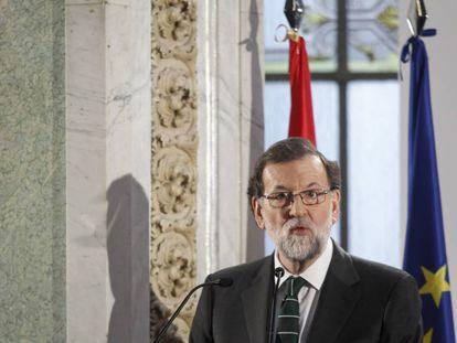 Mariano Rajoy, durante su intervención en el foro ABC.