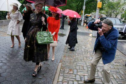 El fotógrafo Bill Cunningham en Nueva York