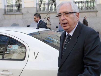 El presidente de Melilla, Juan José Imbroda, en el Tribunal Supremo en 2015.