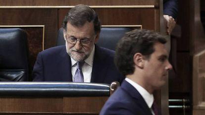 Mariano Rajoy y Albert Rivera, en una imagen de archivo.