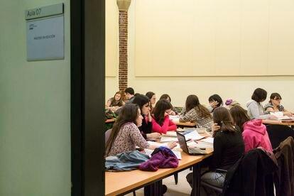 Alumnos del Máster en Edición de la UAB, durante una de las clases de un curso anterior.