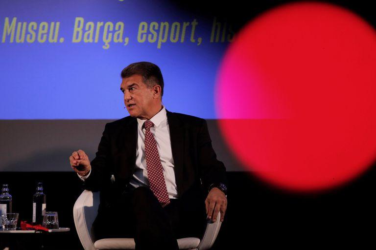 Joan Laporta, durante un acto electoral este mes.