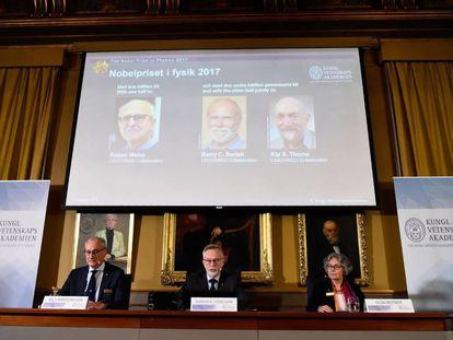 Presentación del Nobel de Física en 2017.