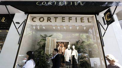 Tienda de Cortefiel en la calle Goya de Madrid.