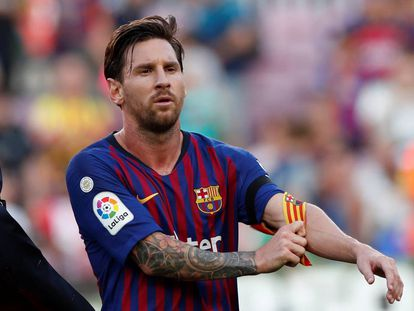 Messi, después del duelo ante el Athletic.
