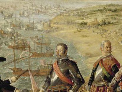 'La defensa de Cádiz frente a los ingleses', cuadro de Zurbarán.