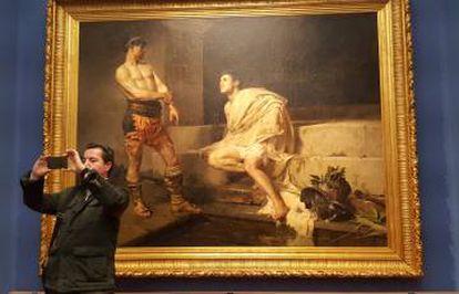 Obra titulada 'Los gladiadores', de José Moreno Carbonero, (1882).