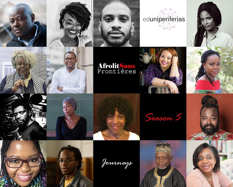 Cartel del Festival Afrolit Sans Frontières, el primero virtual en África.
