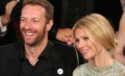 Chris Martin y Gwyneth Paltrow en los Globos de Oro de 2014.