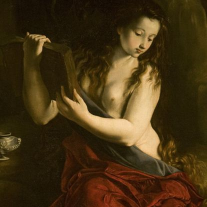 <b><i>Magdalena penitente </b></i>(circa 1615), atribuido a Juan Bautista Maíno.