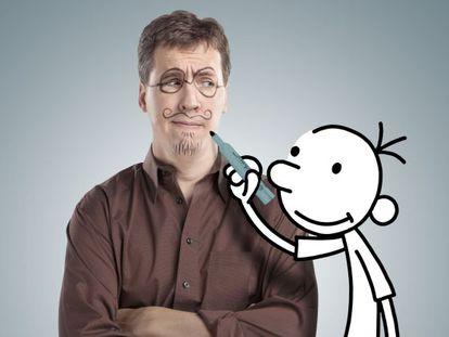 Jeff Kinney y su protagonista, Greg.