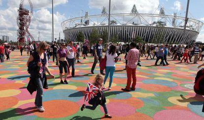 Vista del estadio olímpico de Londres.