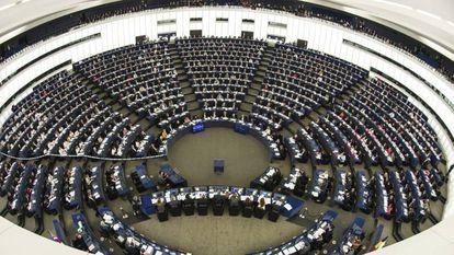 Vista del hemiciclo del Parlamento Europeo en Estrasburgo.