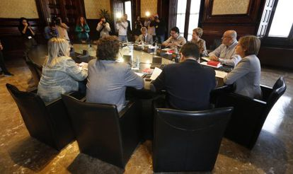Primera reunión de la Mesa del nuevo Parlament.