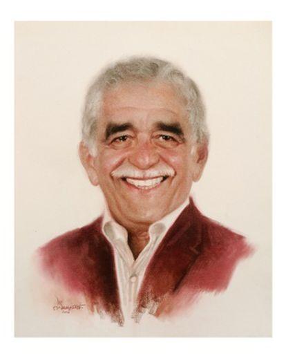 Retrato de García Márquez por el dibujante mexicano Luis Carreño.