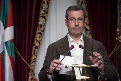 El portavoz del PNV en Juntas Generales de Gipuzkoa, Markel Olano, en una imagen de archivo.