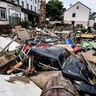 Schuld (Germany), 15/07/2021.- Debris of houses and cars after flooding in Schuld, Germany, 15 July 2021. Large parts of Western Germany were hit by heavy, continuous rain in the night to 15 July, resulting in local flash floods that destroyed buildings and swept away cars. (Inundaciones, Alemania) EFE/EPA/SASCHA STEINBACH