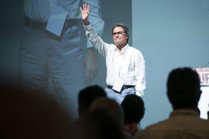 Artur Mas este domingo en el congreso de CDC.