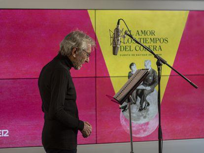 José Sacristán, durante la grabación de 'El amor en los tiempos del cólera'.