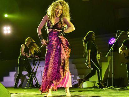 Shakira, durante la ceremonia de apertura de los Juegos Centroamericanos y del Caribe de Barranquilla, Colombia, el 19 de julio de 2018.