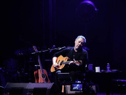 Carlos Goñi, en una grabación del disco Básico IV en el Circo Price el pasado enero.