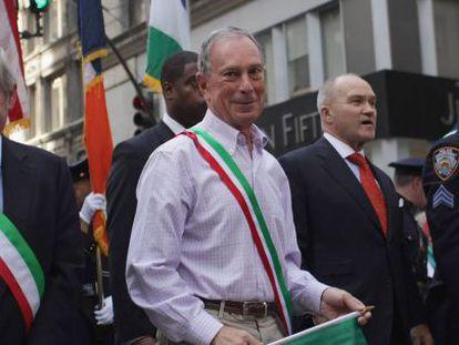 El alcalde Michael Bloomberg, hoy en un desfile en Nueva York