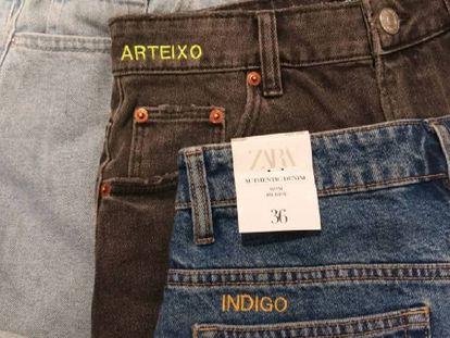 Pantalones de Zara personalizados con bordados