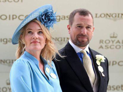 Peter Phillips y Autumn Kelly, el pasado junio en Ascot.
