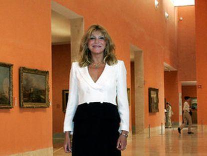 Carmen Thyssen, en una de las salas del Museo Thyssen-Bornemisza dedicadas desde 2004 a su colección.