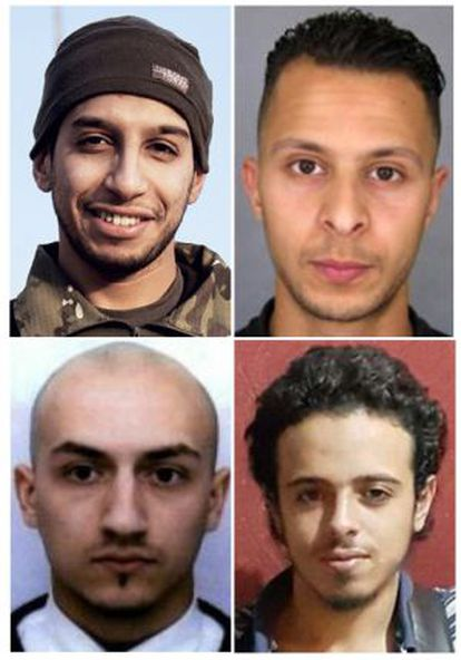 Abdelhamid Abaaoud, Salah Abdeslam, Bilal Hadfi y Samy Amimour.