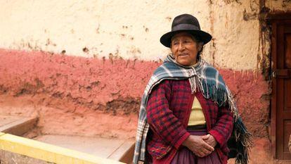 Mujer indígena en Pasco, Perú.