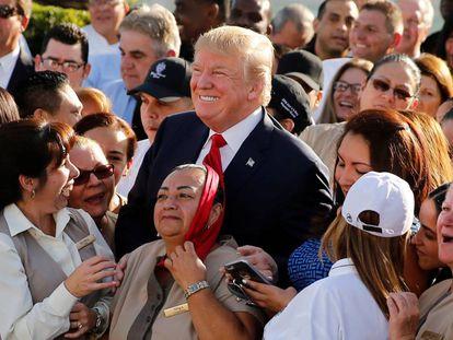 Trump el martes en su club de golf de Miami.