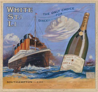 cartel publicitario de la White Star Line.