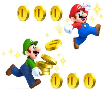 Ilustración del videojuego Súper Mario Bros.